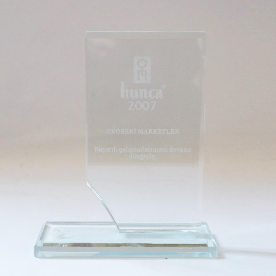 2007 Yılında Hunca firması ile firmamızın gerçekleştirdiği güzel işbirliklerine istinaden teşekkür plaketi