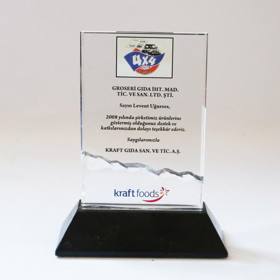 2008 Yılında Kraft Gıda firması ile firmamızın gerçekleştirdiği güzel işbirliklerine istinaden teşekkür plaketi