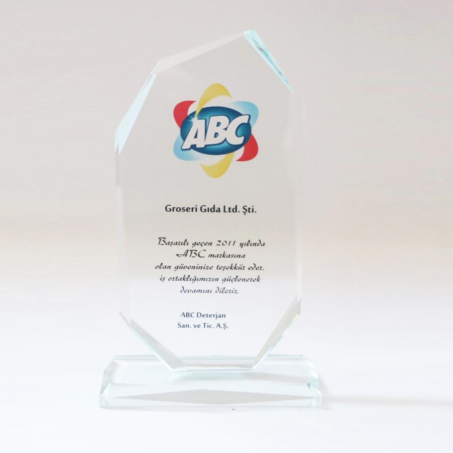 2011 Yılında Abc firması ile firmamızın gerçekleştirdiği güzel işbirliklerine istinaden teşekkür plaketi