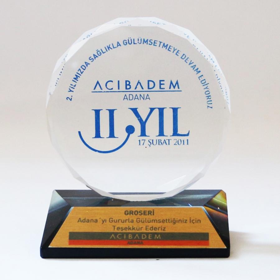 2011 Yılında Acıbadem Adana ile firmamızın gerçekleştirdiği güzel işbirliklerine istinaden teşekkür plaketi