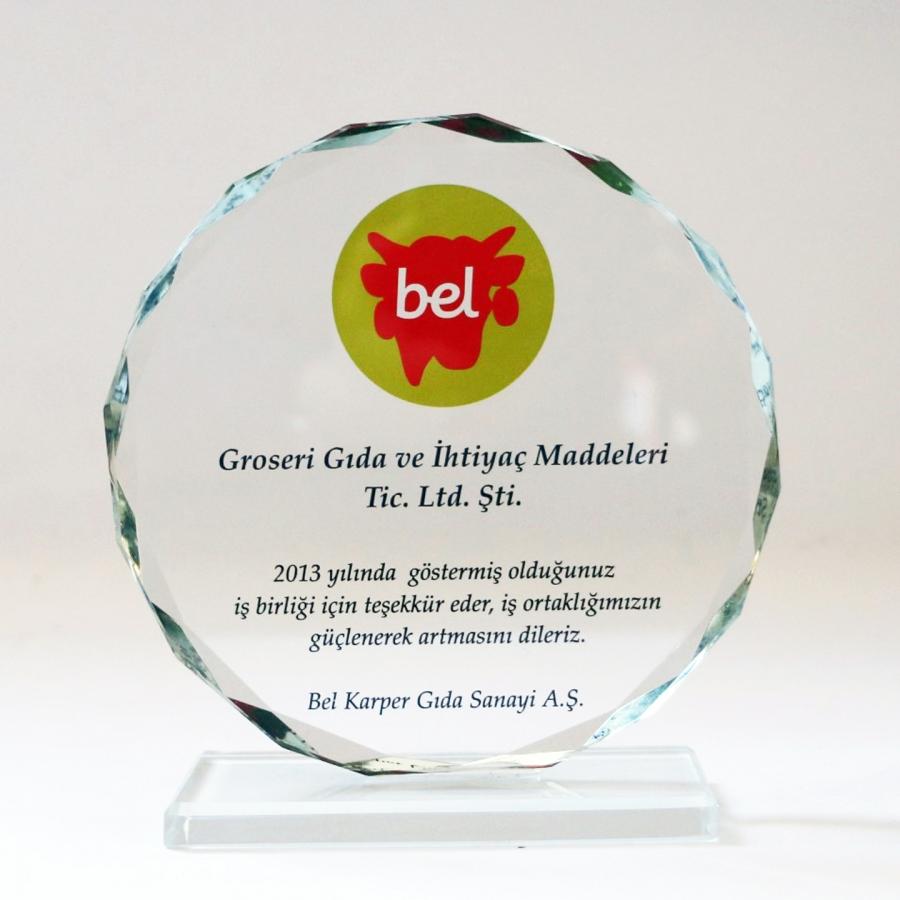 2013 Yılında Bel Kaper A.ş. firması ile firmamızın gerçekleştirdiği güzel işbirliklerine istinaden teşekkür plaketi