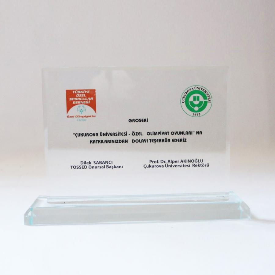 Özel Olimpiyatlar Türkiye derneğine gerçekleştirilen sponsorluk nedeniyle firmamıza takdim edilen teşekkür belgesi_